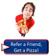 Help a friend buy Donegal car insurance near or in Reading PA, Philadelphia, Harrisburg, Allentown, Erie, Pittsburgh, Lancaster, or York and get a free pizza